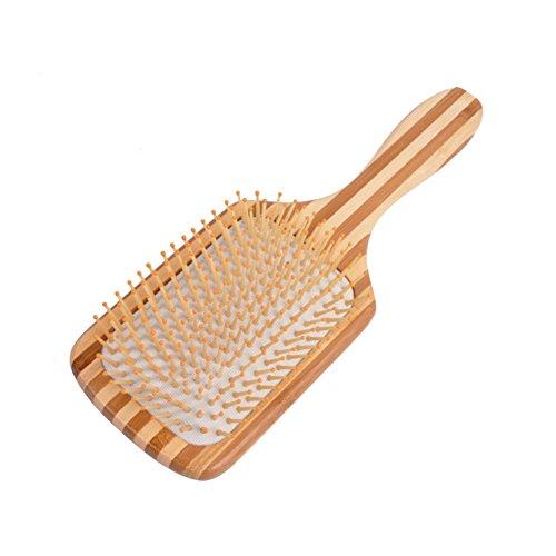 Cepillo cabello Masaje bambú Jabalí hairb Rush eliminación