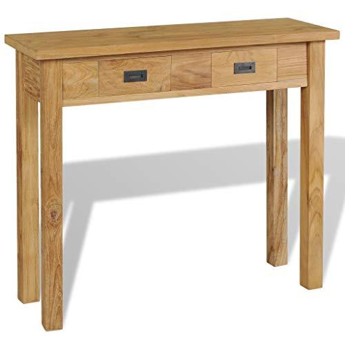 vidaXL Massivholz Teak Konsolentisch 90×30×80 cm Beistelltisch Sideboard Tisch