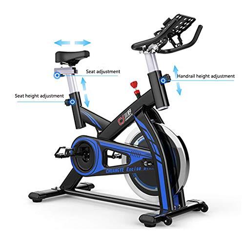 Heimtrainer Fahrrad für Zuhause,Indoor Cycle mit Elektronische Anzeige Komfortsattel Elektromagnetisch Spinning Fahrrad,Ergometer Fahrrad Verstellbarer lenker Widerstand Multifunktionshalterung