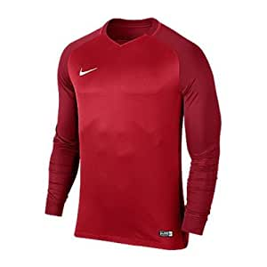separation shoes db973 33863 Nike Trophy III LS Maillot Homme, University Gym Red Blanc, FR ...