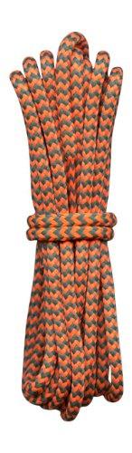 Fabmania Lacets pour Chaussures de randonnée Orange et Vert Jade 4mm diametre