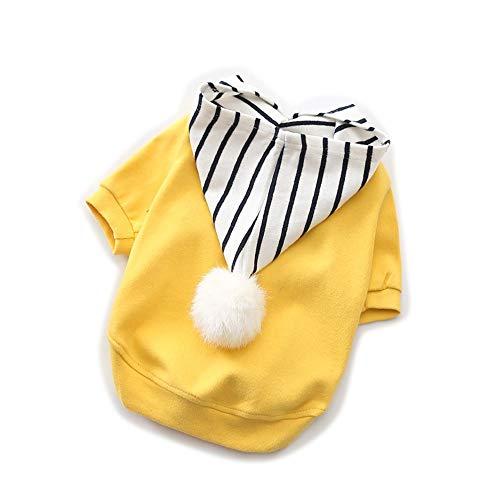 LNLW Schnelle trockene Haustier-Kleidung Neuer Hund kleidet Baumwollausdehnungs-Welpen-Teddybär-Fabrik-Großhandel (Farbe : Gelb, Size : - Fabrik Schnelle Kostüm