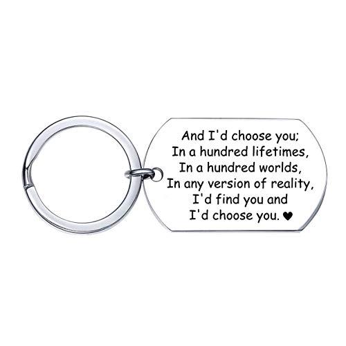 XGAKWD Jahrestagsgeschenk für Herren - Gravierter Schlüsselanhänger