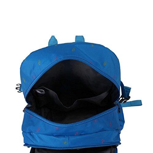 LF&F College SchüLer Rucksack 35 Liter KapazitäT Leichte Wasserdichte Nylontasche Unisex Outdoor Reisen Freizeit Sport Camping Klettern Urlaub GepäCktasche Jeden Tag Nutzen C