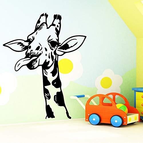 Modische Giraffe Abnehmbare Pvc Wandaufkleber Für Kinderzimmer Dekoration Diy Pvc Dekoration Zubehör 43 * 52 cm