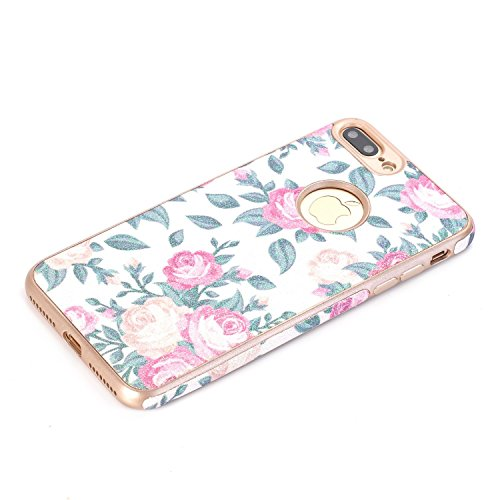 iPhone 7 Case, elecfan Flower Pattern Soft Cover Shell Phone Skin Super Slim Screen Protective Smart Case for Apple Iphone 7 4.7 inch A01