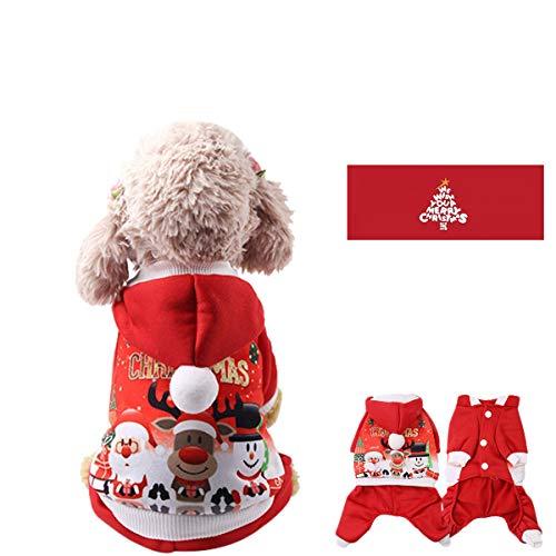 BANGBANG Weihnachts-Kostüm, für Kleine Hunde, Katzen, Hunde, Herbst-Kostüme, XS-XXL (Kostüme Für Hunde Weihnachten)