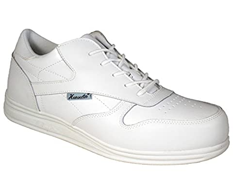 Mens Henselite Victory Quality Lace Lawn Bowling Shoes White UK 8