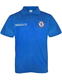 bf925c835 Chelsea FC Official Football Gift Boys Crest Polo Shirt Navy