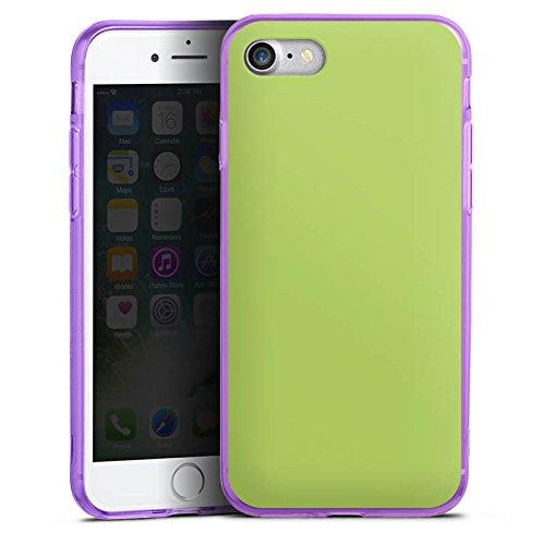 Apple iPhone 8 Silikon Hülle Case Schutzhülle Lindgrün Frühling Grün Silikon Colour Case lila