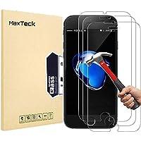 MaxTeck [3 Pièces] Verre Trempé iphone 8/7, Film Protection en Verre trempé Écran Protecteur Vitre- Anti Rayures - sans Bulles d'air -Ultra Résistant Dureté 9H pour iphone 8/7 - Compatible 3D Touch