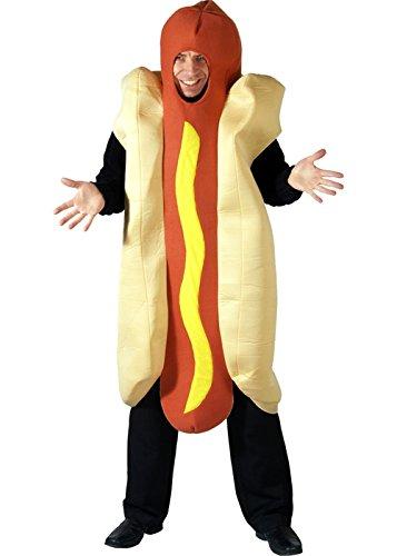 Erwachsene Männer Hot Dog Fancy Dress (Dress Kostüm Dog Fancy)