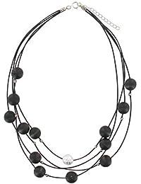 Aarikka KARDEMUMMA necklace with wooden beads, 90 cm long, black