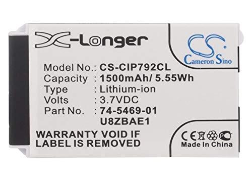 CS-CIP792CL Akku 1500mAh Kompatibel mit [Cisco] 7026G, 74-5468-01, 7925, 7925G, 7925G-EX, 7926, 7926G, CP-7925G-A-K9, CP-7925G-EX-K9, CP-BATT-7925G-STD Ersetzt 74-5469-01, U8ZBAE12 Cisco Cp-batt