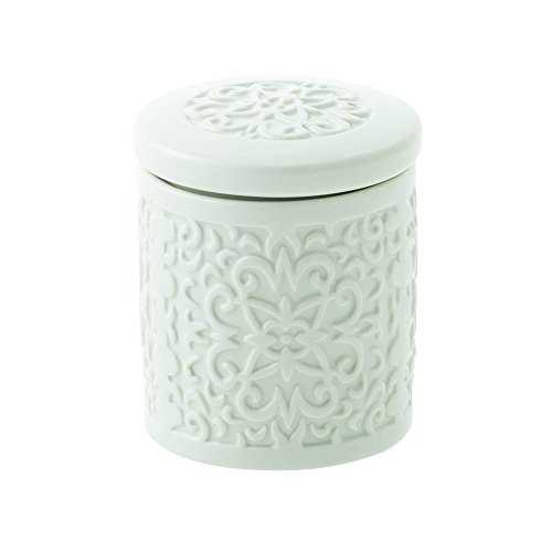 Gewürzdose / Vorratsdose Petit Clizia, 9 cm hoch, Keramik, creme-weiß, wundervoll gearbeitete Struktur, mit tollem Dekor von Andrea Fontebasso
