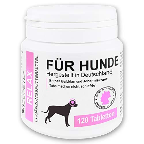 Vicupets® Relax für Hunde   Vorbereitung auf Stresssituationen im Alltag   für nervöse & ängstliche Hunde   enthält Baldrian   Made in Germany