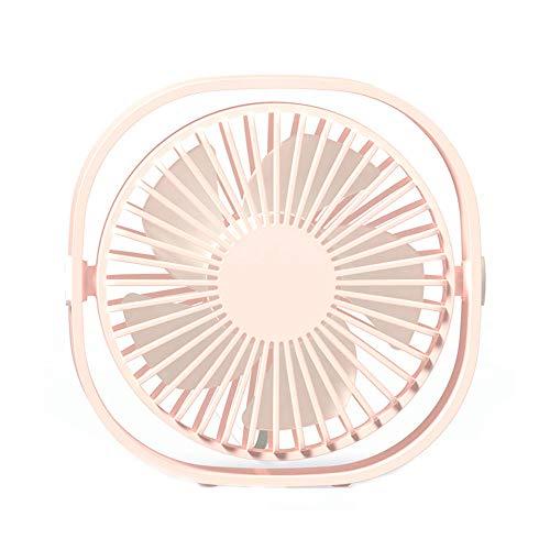 DuHLi Computer-Desktop-USB-Mini-Lüfter 360-Grad-Rotationsanpassung-Mini-Lüfter Home-Office-USB-Desktop-Lüfter Stille 3 Geschwindigkeit Variable Geschwindigkeit Wind,Pink - Variable Geschwindigkeit Lüfter