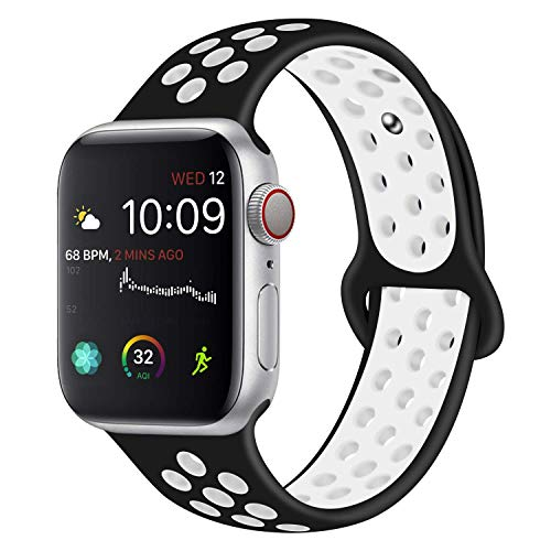 0e86252797b5 VODKER Compatible con para Apple Watch Correas 42mm 44mm 38mm 40mm Silicona  Suave Reemplazo Sport Banda Compatible con para iWatch Serie 4 3 2 1