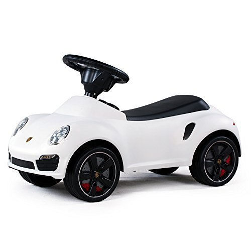 Kinderfahrzeug Baby Car Porsche 911 weiß, Auto Rutscherfahrzeug Rutscherauto Rutscher