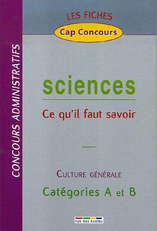 Sciences : Ce qu'il faut savoir