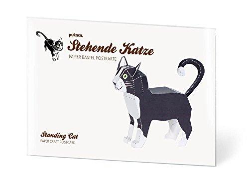 Katze stehend Postkarten selbst gestalten