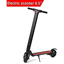 "Dragon Monopatín Eléctrico Scooter eléctrico Plegable Velocidad Massima 25 Km Motor 250W Ruedas de 6,5"" - Noir"