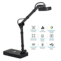 Benkeg YL1050AF USB Document Camera Scanner 10 Mega-pixels HD Camera A4 Capture Size Auto Focus Built-in Microphone LED Light Video Shooting for Office Conference Classroom Online Teaching Course