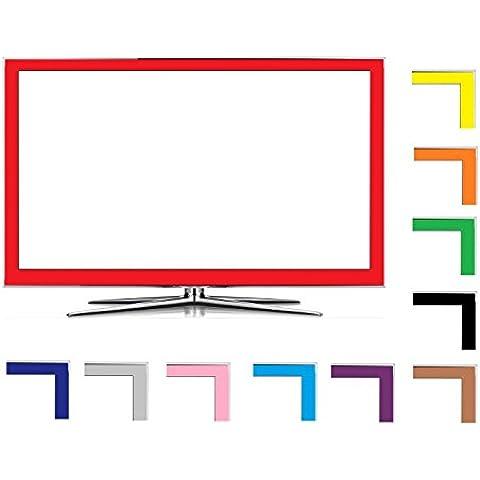 Weiß 50mm Hochglanz LED LCD TV Folien Dekor Set passend für Ihr Fernseher, heben Sie sich von der breiten Masse ab