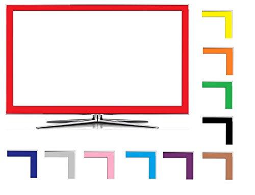 Weiß 50mm Hochglanz LED LCD TV Folien Dekor Set passend für Ihr Fernseher, heben Sie sich von der breiten Masse ab (Tv 46 Lg Led)