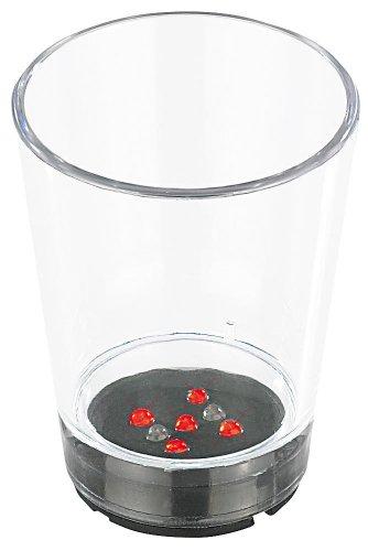 s: Shotglas mit Würfel-LEDs im 2er-Set (LED Schnapsgläser) ()