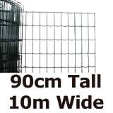 Green Blade BB-CW131 10 x 0.9m PVC Coated Garden Fence - Green