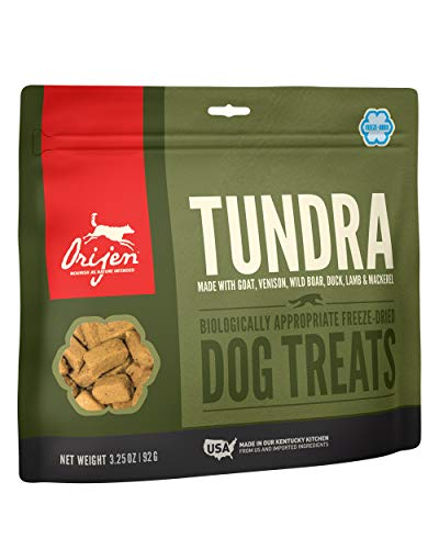 NOUVEAU Orijen Dog Treat Freeze Dried - Tundra (environ 90 unités)