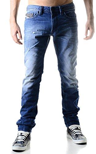 Diesel Herren Straight Leg Jeanshose Blau Jeansblau M