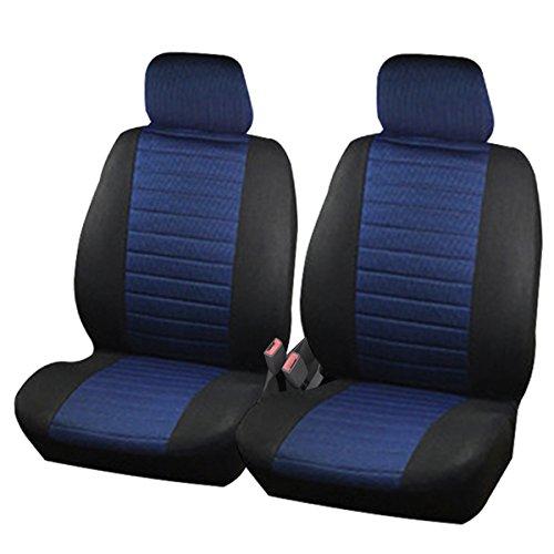 Preisvergleich Produktbild Woltu AS7232 Werkstattschoner 2 Vordere Auto Sitzbezüge Schonbezüge Sitzbezug universal Sitzauflage Kariert Blau