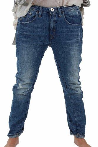 Jeans G STAR RAW Arc 3D Tapered Watton Denim Medium Aged Destroy Bleu