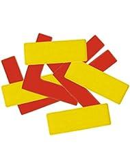 Lot de 20 rectangles et 4 équerres pour marquage au sol - Coloris JAUNE