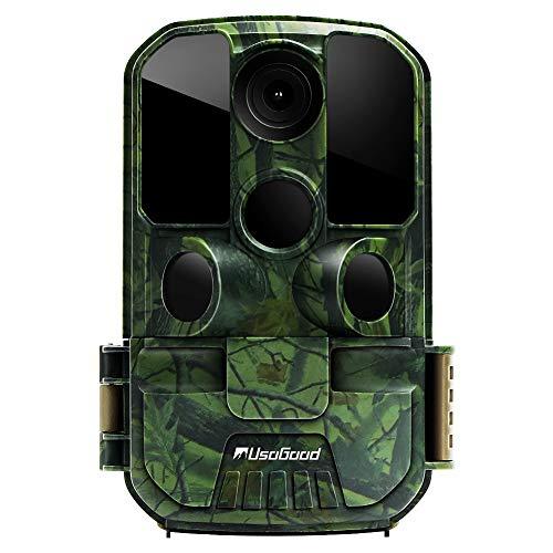 usogood 20MP Wildkamera mit Bewegungsmelder 1080P Nachtsicht 20m mit 2.4\' LCD Bildschrim IP66 wasserdichtes gehäuse für Jagd und Heimüberwachung fotofalle