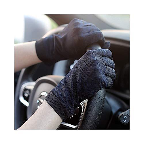 Qiuli Mode Persönlichkeit Handschuhe Atmungsaktiv Bezieht Sich auf das Fahren mit dem rutschfesten, elastischen Touchscreen for Herren. Kurzer, UV-beständiger Dünnschnitt (Non-slip-fünf Beständig)