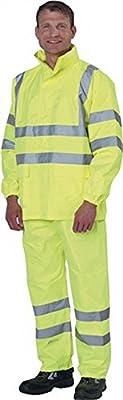 Regenbundhose Gr.XL, gelb EN471 Kl.2 / EN343