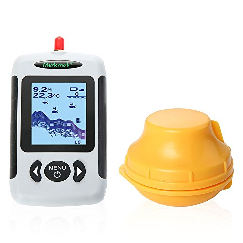 Tikitaka Sonar Inalámbrico Buscador de Los Pescados Portátil Profesional con Matriz de puntos Buscador de Los Pescados Pesca Sonda Detector 40M (120ft)
