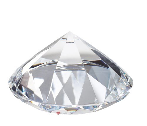 I Luv LTD Crystal Desk Paperweight Iluv Crystal