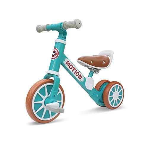 GPAN Kinder Laufrad,2 in 1,Rahmen aus Kohlenstoffstahl,Geringes Gewicht,12-Zoll-Rad Eva,Geeignet für 2-4 Jahre