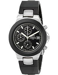 gino franco Men's 967BK Round Chronograph Stainless Steel Bracelet Watch