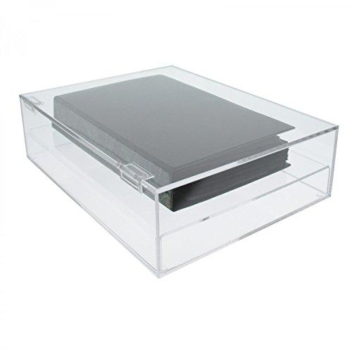 Avà srl teca in plexiglass trasparente 5 lati chiusi con sportello superiore - misure: 41x31x h10 cm