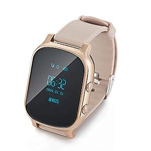 CZZ Wasserdichte intelligente Uhr, Kinder Smart Positioning Telefon Uhr, Bluetooth Smart Uhr Mit SIM-Kartensteckplatz, Kamera Fitness Tracker Schrittzähler Sport Armbanduhr Für Männer Frauen Kinder