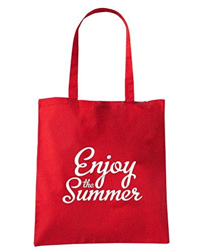 T-Shirtshock - Borsa Shopping ENJOY0092 Enjoy the summer 2 Rosso