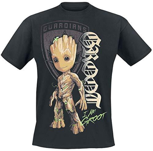 Guardians of the Galaxy 2 - Groot Shield T-Shirt schwarz 5XL (Marvel 5xl Shirts)
