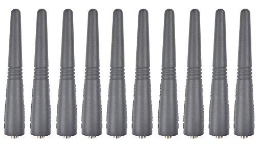 10x UHF 400–470MHz Antenne für Motorola gp180GP140EX500EX600HT1250LS + GP140/GP344/GP340GP320GP330GP280CP040CP160CP180CP140CP150HT750hr1250tragbar Zwei Wege Radio Walkie Talkie (Cp150-antenne)