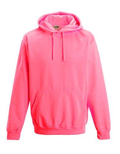 NEON Sweatshirt mit Kapuze HOODIE floureszierend versch. Farben und Größen von noTrash2003® Electric Pink