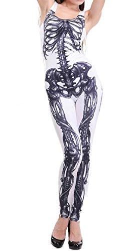 suit weiß Halloween (Fleisch Anzug Kostüm)
